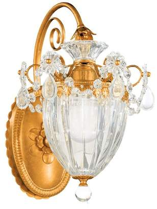 Schonbek Bagatelle 1-Light Wall Sconce in Heirloom Gold With Clear Heritage Crystal