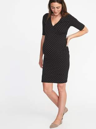 Old Navy Maternity Cross-Front Bodycon Dress