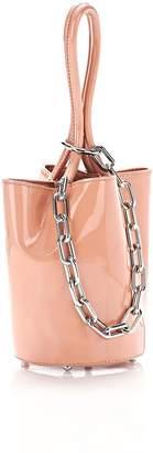 Alexander Wang Roxy Mini Bucket In Rose Patent With Rhodium