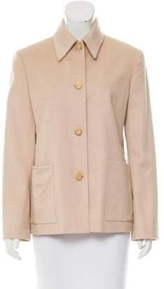 Celine Camel Hair Pointed Collar Jacket