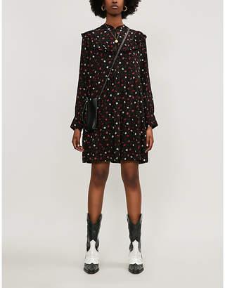 BA&SH Liv floral-print crepe mini dress