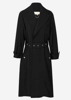 Vanessa Bruno Iasko Trench Coat In Noir