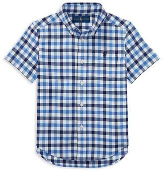 Polo Ralph Lauren Boys' Plaid Performance Oxford Shirt - Little Kid