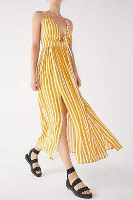 Urban Outfitters Tie-Front Striped Maxi Dress