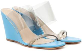 Maryam Nassir Zadeh Olympia patent leather wedge sandals