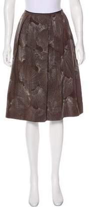 TSE Silk Knee-Length Skirt