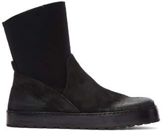Marsèll Black Suede Cassata Sock Boots