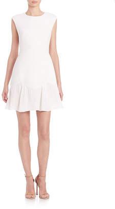Rebecca Taylor Knit Flounce-Hem Dress