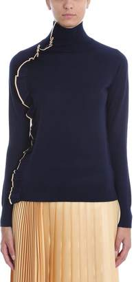 Victoria Beckham Victoria Ruffle Trim Turtle Neck Sweater