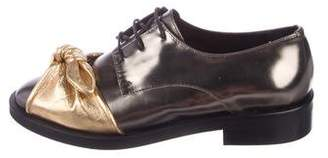 Coliac Metallic Tie-Accented Oxfords w/ Tags