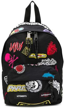 Eastpak embroidered stickers backpack