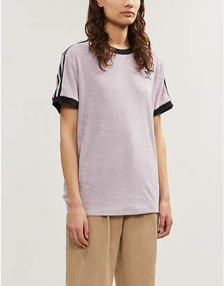 adidas 3-stripes logo-embroidered cotton-jersey T-shirt