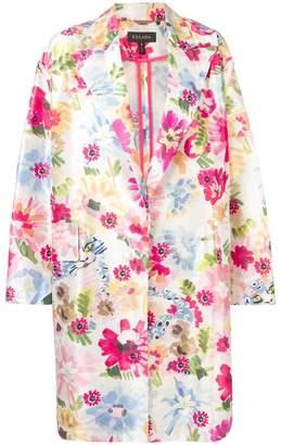 Escada lightweight floral coat