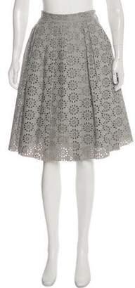 Marc Jacobs Godet-Pleated Laser Cut Skirt
