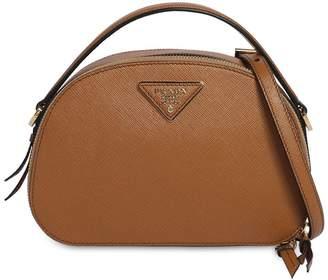 Prada Brique Leather Shoulder Bag