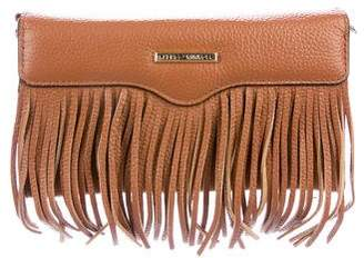 Rebecca Minkoff Leather Fringe Phone Crossbody Bag
