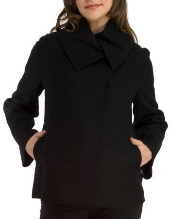 cadeau Overlapping Collar Wrap Coat