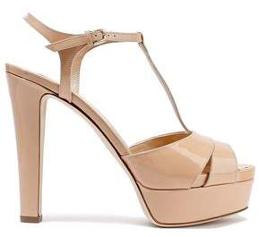 5cc30cf5c64 Sergio Rossi Patent-leather Platform Sandals