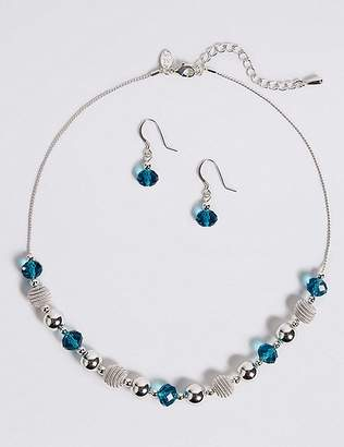 Marks and Spencer Snails Glass Necklace & Earrings Set