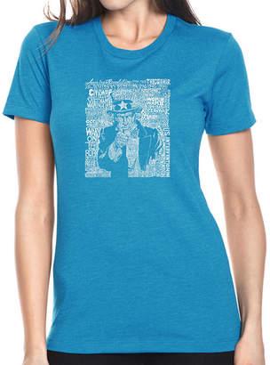 SAM. LOS ANGELES POP ART Los Angeles Pop Art Women's Premium Blend Word ArtT-shirt - UNCLE