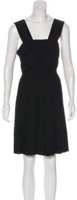Sonia Rykiel Sonia by Wool Pleated Knee-Length Dress w/ Tags