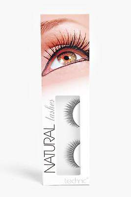 boohoo NEW Womens Technic Natural False Eyelashes in Black size One Size