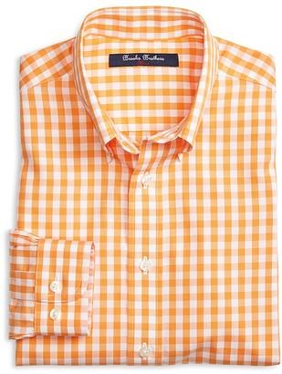 Brooks Brothers Boys' Non Iron Gingham Shirt - Big Kid $60 thestylecure.com