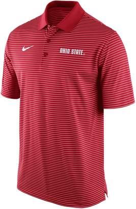 Nike Men's Ohio State Buckeyes Striped Stadium Dri-FIT Performance Polo