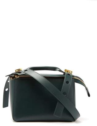 Sophie Hulme Bolt Leather Shoulder Bag - Womens - Dark Green