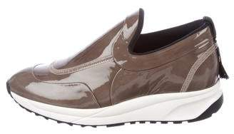 Maison Margiela Patent Leather Slip-On Sneakers