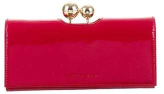 Ted Baker Embellished Patent Leather Wallet w/ Tags