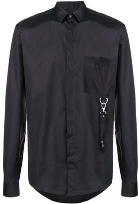 Les Hommes buckle detail slim shirt