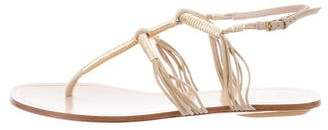 Gucci Metallic-Accented Ankle Strap Sandals
