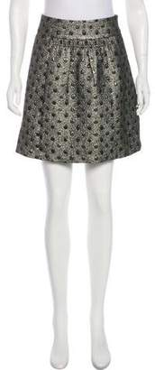 Tibi Metallic Mini Skirt