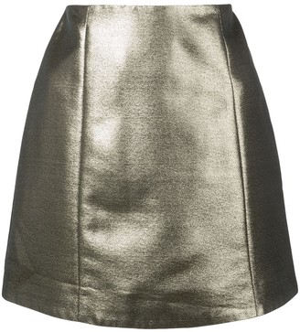 ALEXACHUNG Alexa Chung metallic mini skirt