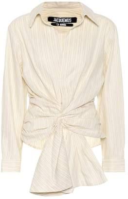 Jacquemus La Chemise Olhao linen-blend top