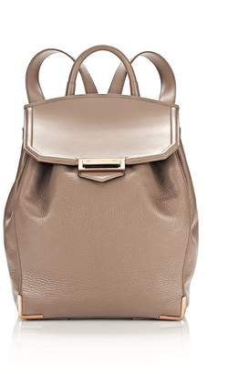 Alexander Wang Prisma Backpack In Pebbled Latte With Rose Gold
