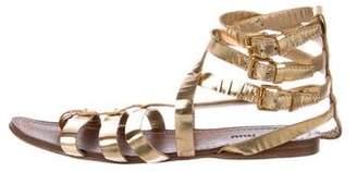 Miu Miu Metallic Gladiator Sandals
