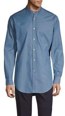 Burberry Mandarin Collar Button-Down Shirt