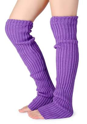 a4735c5ae13a2 Pareberry Women's Winter Over Knee High Footless Socks Knit Warm Long Leg  Warmers