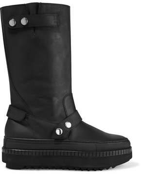 Moschino Platform Leather Boots
