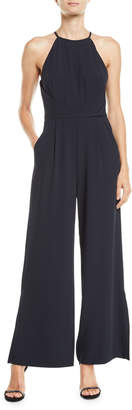 Tahari ASL Gabe High-Neck Wide-Leg Jumpsuit
