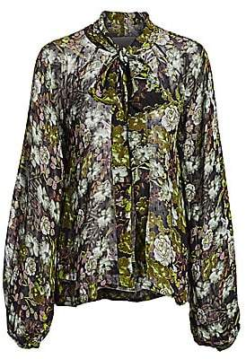 By Ti Mo byTiMo Women's Desirà ̈ Balloon-Sleeve Floral Blouse