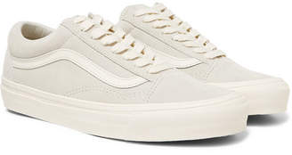 d845cafbe5b640 Vans Og Old Skool Lx Leather-trimmed Suede Sneakers - Off-white