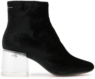 MM6 MAISON MARGIELA clear block heel boots