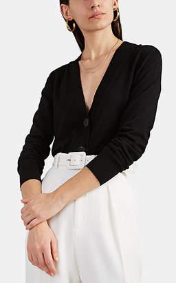 Burberry Women's Logo Wool Slim Cardigan - Black