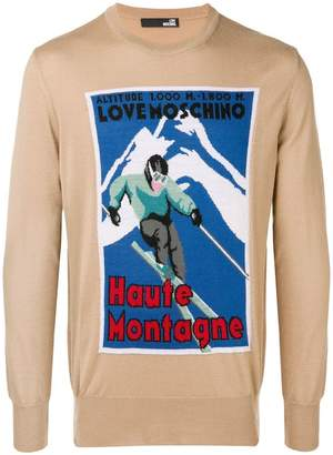 Love Moschino Ski knit sweater