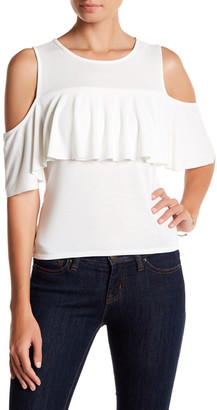 Ten Sixty Sherman Cold Shoulder Ruffle Blouse $22.97 thestylecure.com