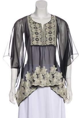 Anna Sui Oversize Short Sleeve Blouse