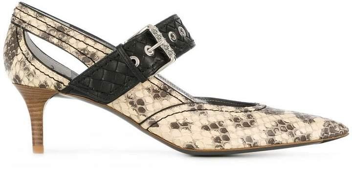 natural anaconda kitten heel - Nude & Neutrals Bottega Veneta SMyv5EtDw